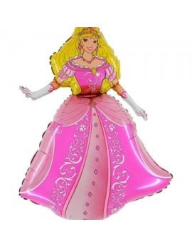 Ballon aluminium princesse rose