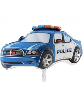 Ballon aluminium voiture police