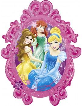 Ballon aluminium princesses miroir
